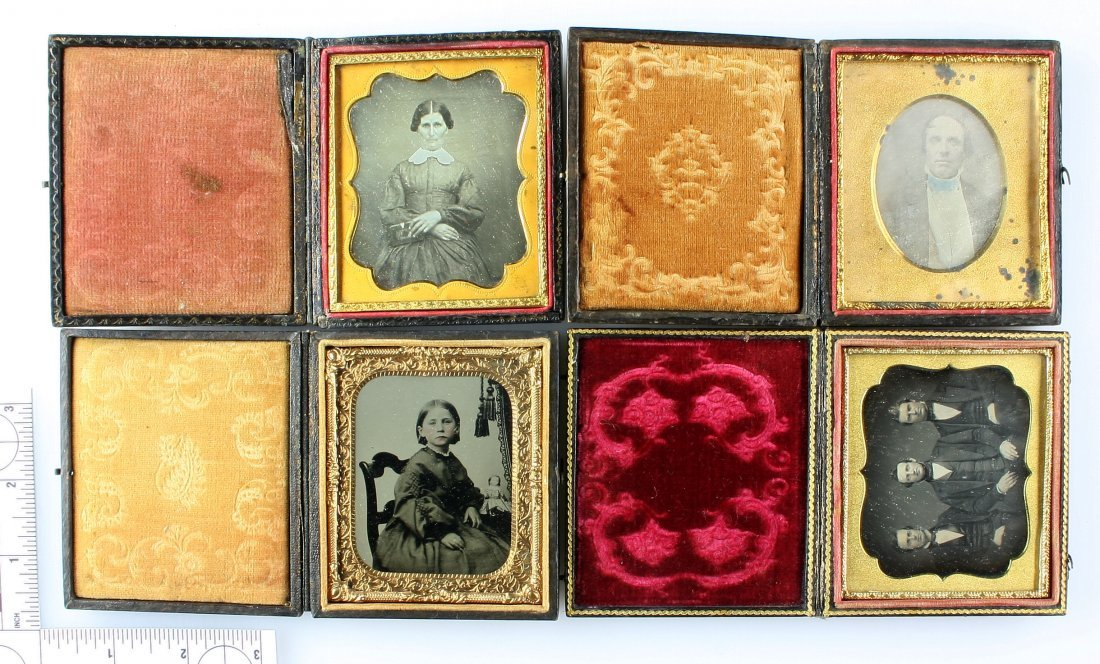 3 Ambrotypes and 1 Tintype in Albums