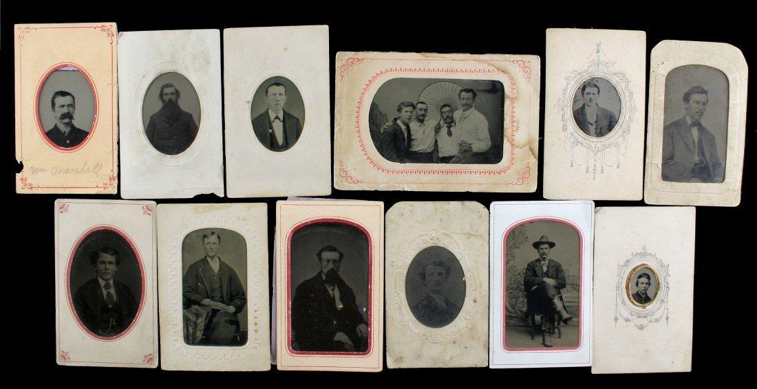 12 1800's TinType Portraits