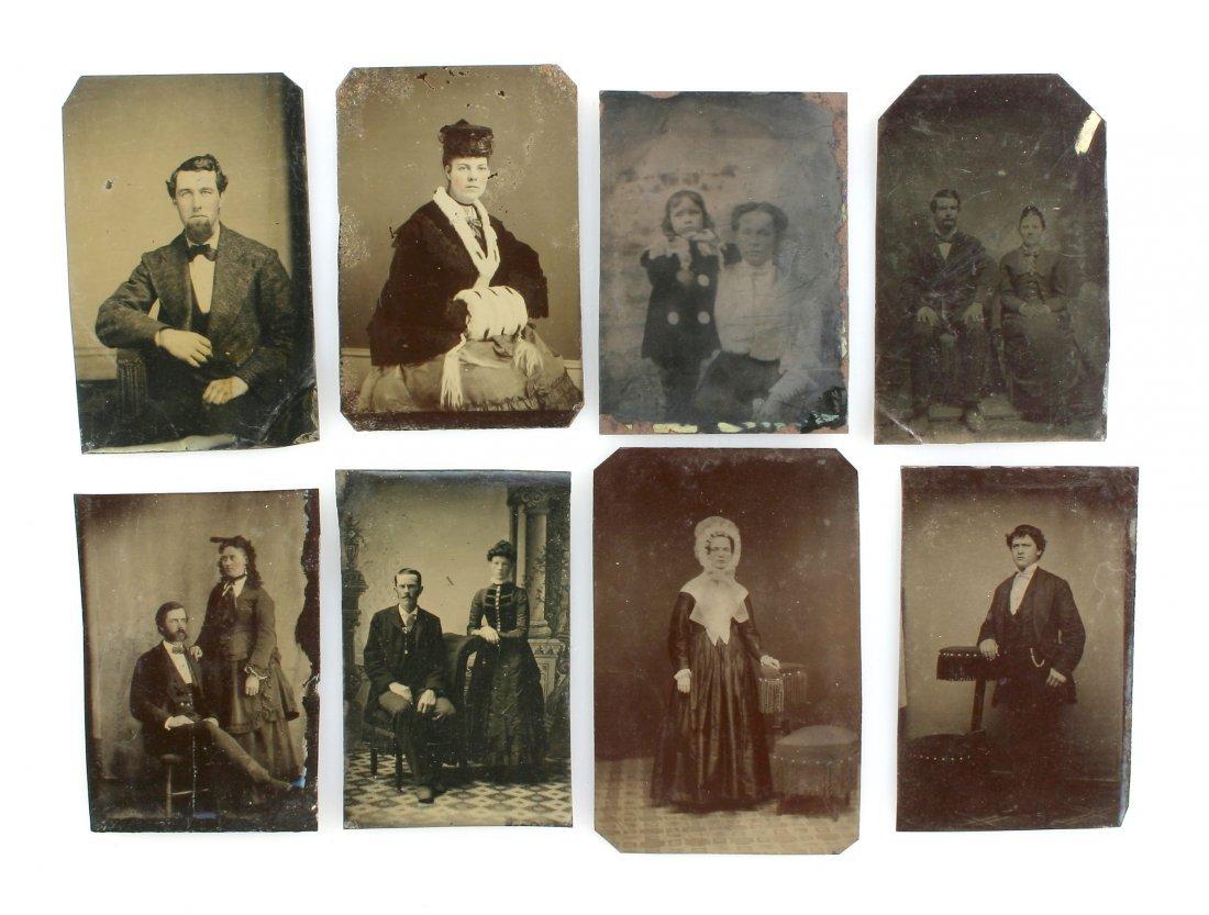 8 Unmounted Tintype Portraits