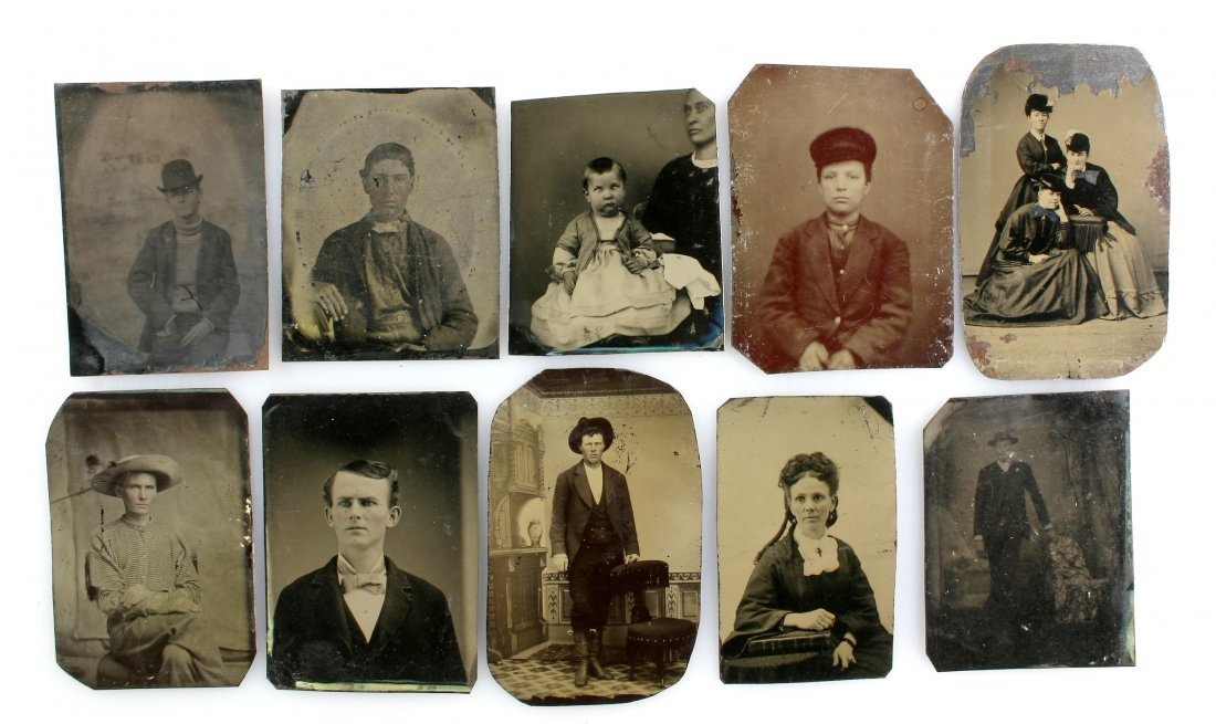 10 Unmounted Tintype Photos