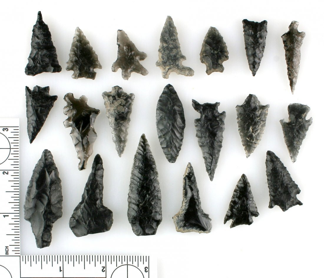 Large lot of Oregon Obsidian Points