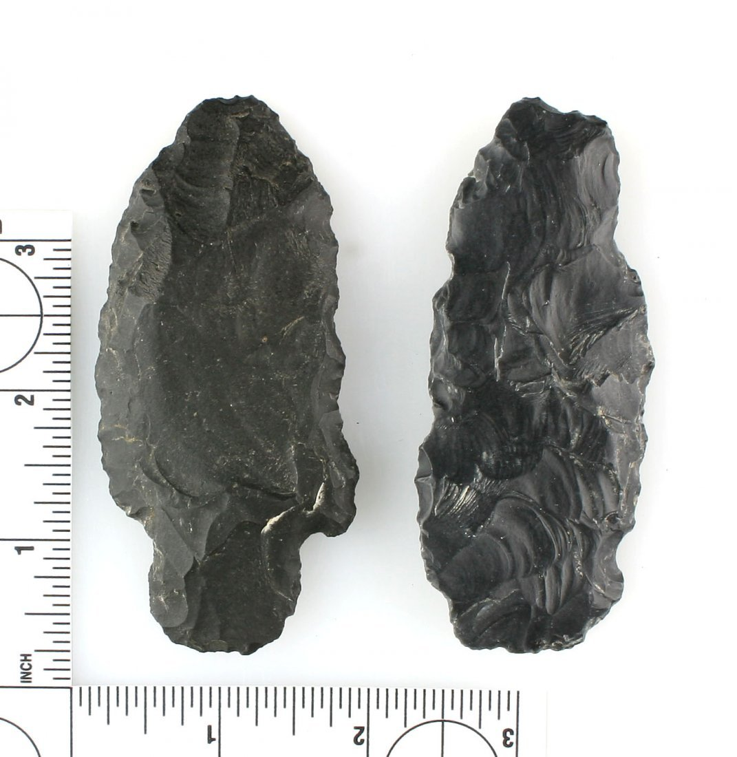 Pair of Large Obsidian Blades