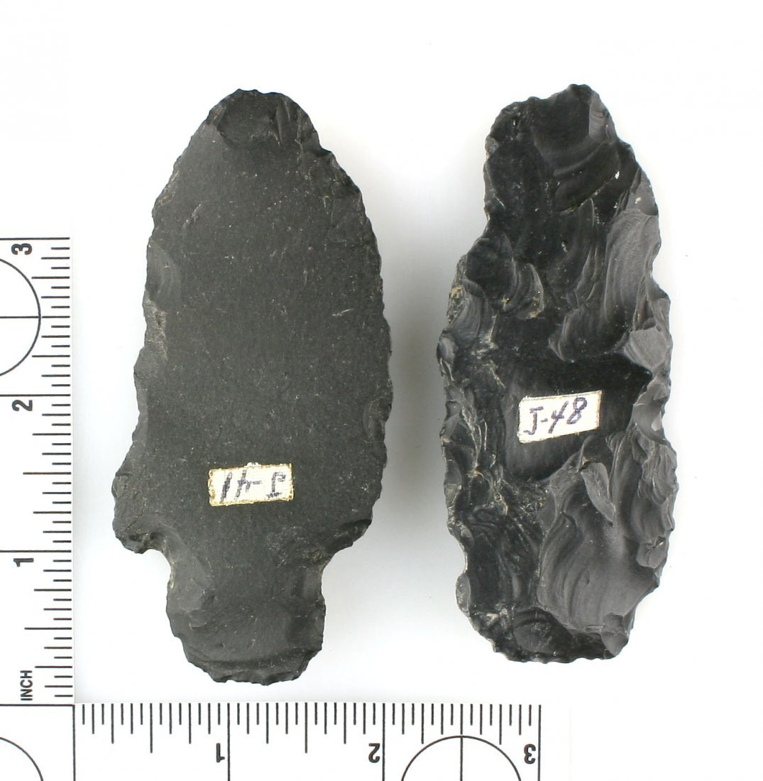 Pair of Large Obsidian Blades - 2