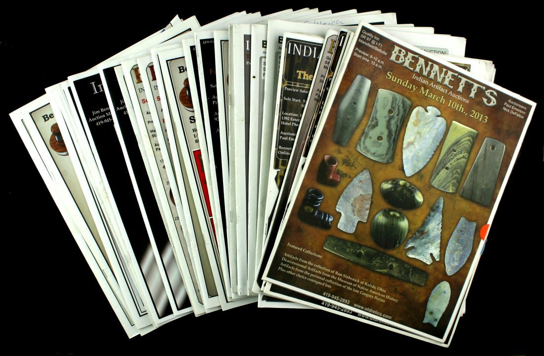 32 Bennett Auction Catalogs