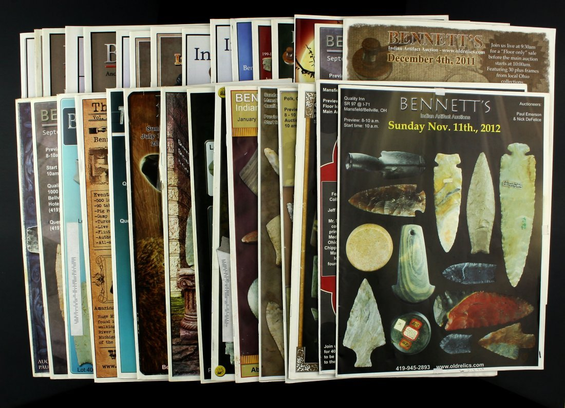 31 Bennett Auction Catalogs