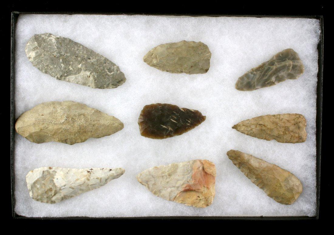 Display of 9 Indiana Blades