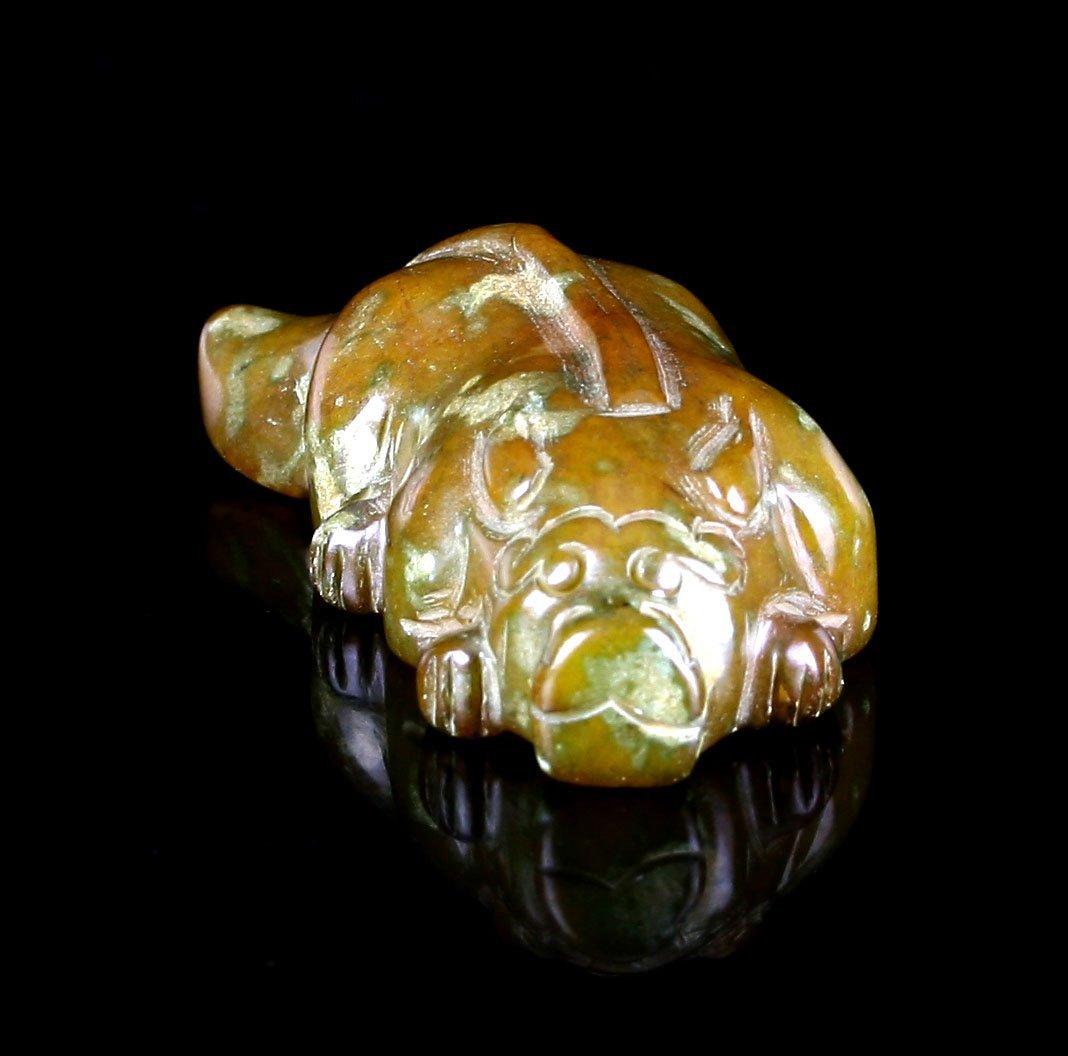"2 5/16"" Chinese Jade Animal Carving - 4"