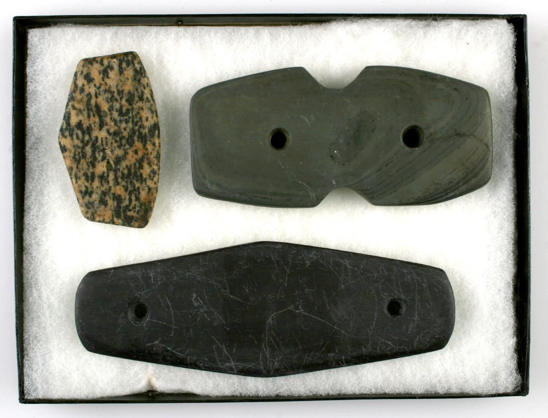 Display of 3 Reproduction Gorgets