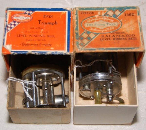 4: 1958 Shakespeare Triumph and 1962 Kalamazoo reels.