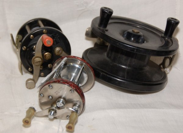 23: Lot of 3 Reels; South Bend No. 1250, Model E, Penn