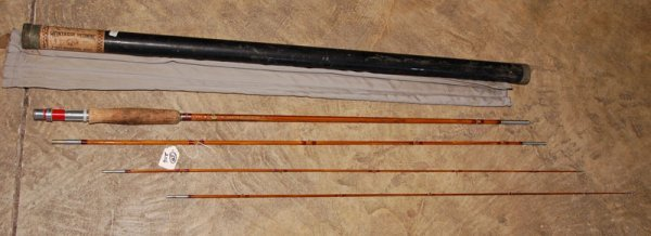 208: GORGEOUS Split Bamboo Rod set with pouch and ORIGI