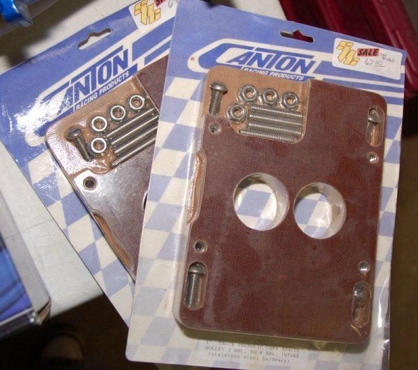 """Lot of 2 Canton Holley 1""""thick Phenolic Carb Spacers in"""