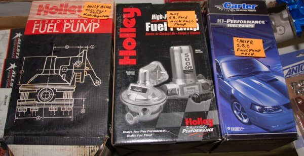 Lot of 3 Fuel Pumps in box: Holley Blue Electric Fuel P