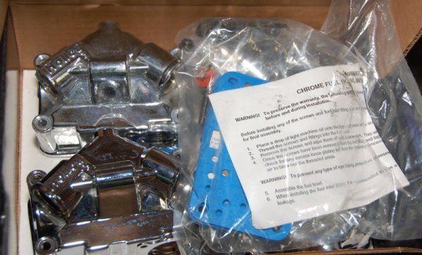 Holley Chrome Fuel Bowl, Part 34-501 in box