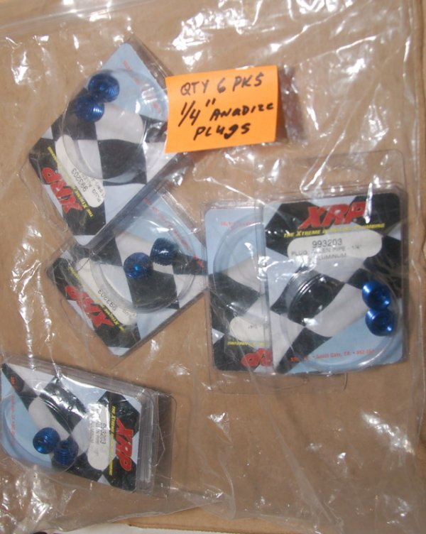"""Lot of 6, 1/4"""" anodized plugs"""