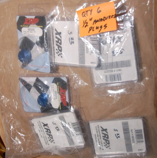 """Lot of 6, 1/2"""" anodized plugs"""