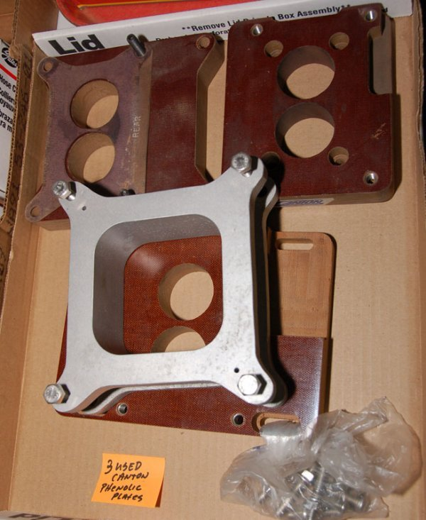 Lot of 3 used canton Phenolic Carb spacers