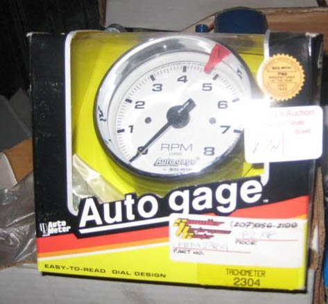 Auto Gauge Tachometer 3 3/4 # 2304 Chrome w/ White Face