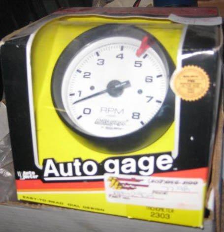 "Autometer Tachometer #2303 Black w/ white face 3 3/4"""