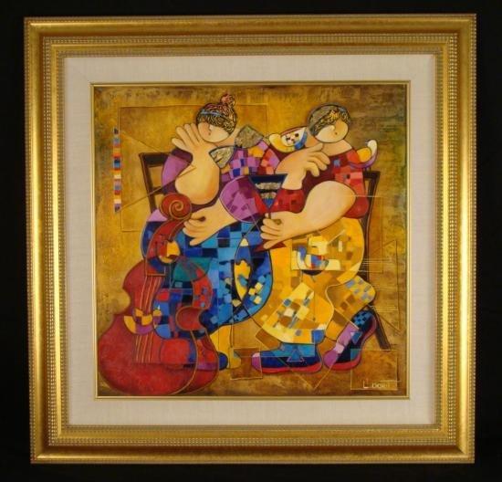 """Dorit Levi Original Framed Oil Painting """"Cocktail"""""""