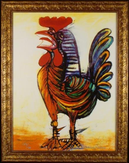 Pablo Picasso Estated Signed Ltd Ed Print Rooster