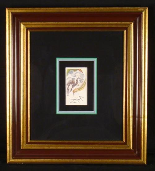 Salvador Dali Original Signed Art Print Female Woman