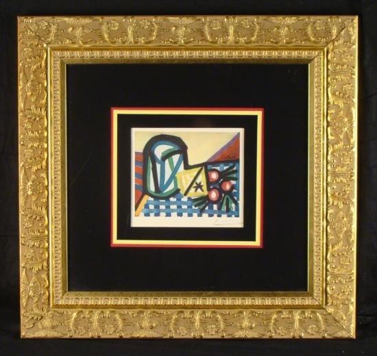 Pablo Picasso Signed Frmd Print Still Life w/Cherries