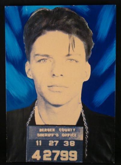Steve Kaufman Original Print Frank Sinatra Mug Shot