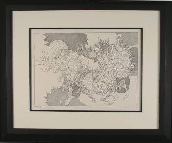 Guillaume Azoulay Original Horse Drawing Bietalon