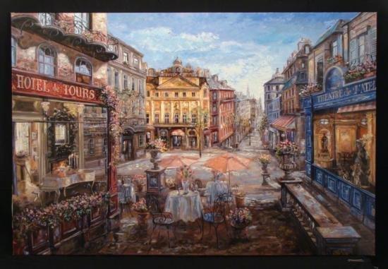 Vadik Suljakov Signed Art Print Hotel des Tours France