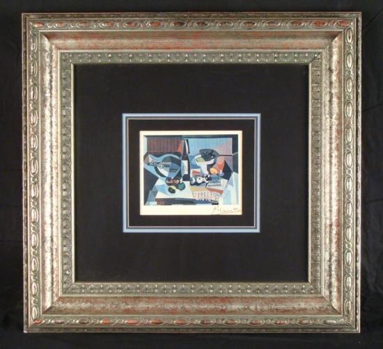 Pablo Picasso Signed Print Musical Banquet Paris 1946