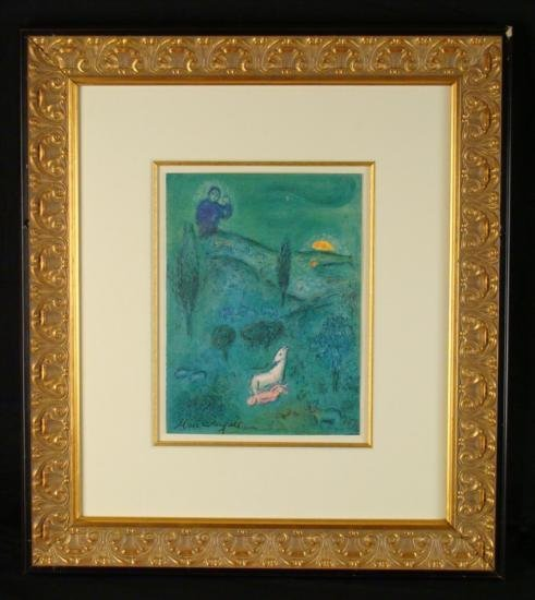 "Marc Chagall Original Signed Print ""Lamb and Baby"""