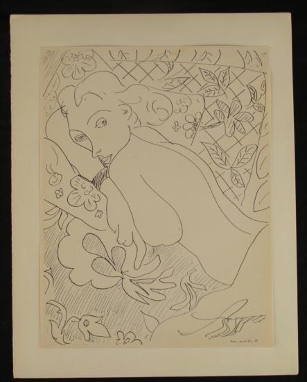 Henri Matisse Print Cahiers D'Art Nude w/ Patterns 1935