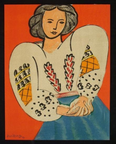 Henri Matisse Print Madame M.P. La blouse roumaine 1955