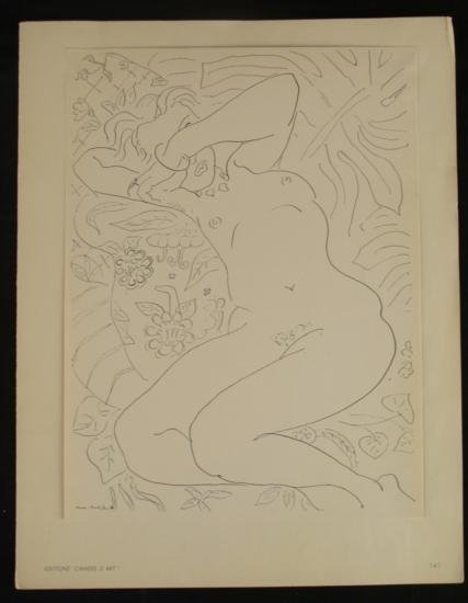 Henri Matisse Print Cahiers D'Art Reclining Nude 1936