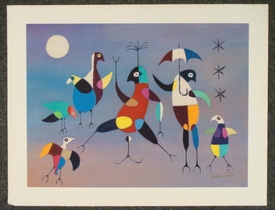 "Jonathan Winters Signed Art Print ""Umbrella Dancer"""