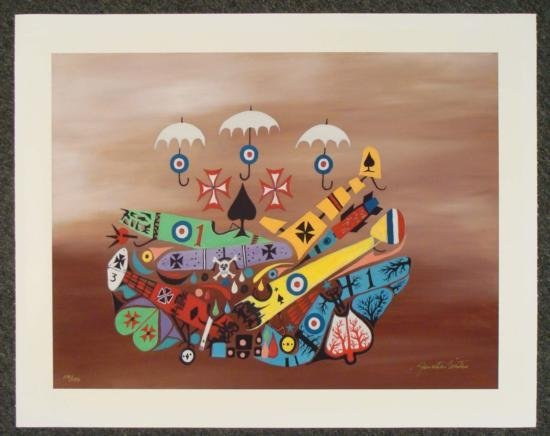 Jonathan Winters Signed Art Print -Day They Got Wings