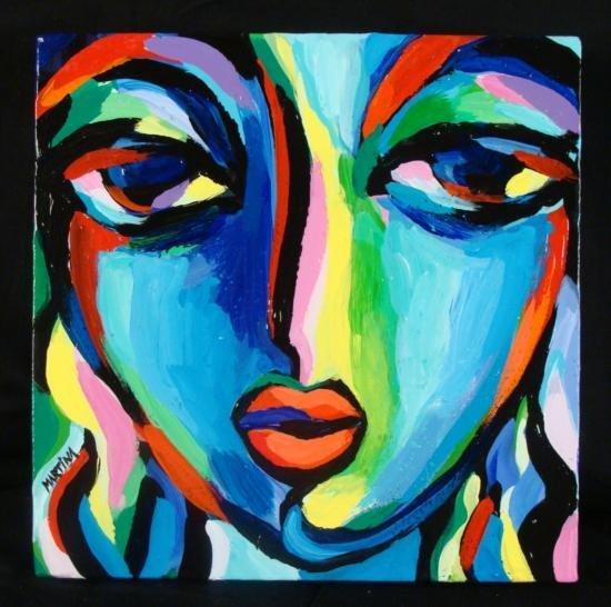 Martina Shapiro Original Art Acrylic Painting Nov Girl