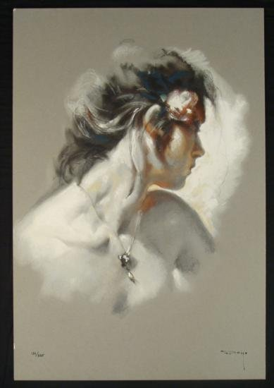 "Jose Royo Signed LE Art Print On Panel ""La Joya"""