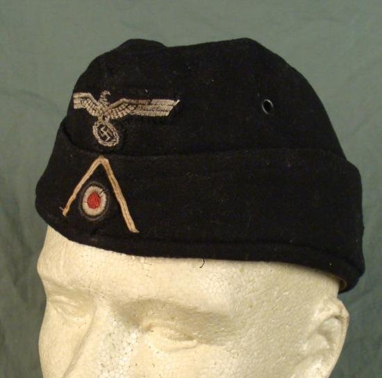 WWII German Army Panzer Enlisted Man EM Overseas Cap