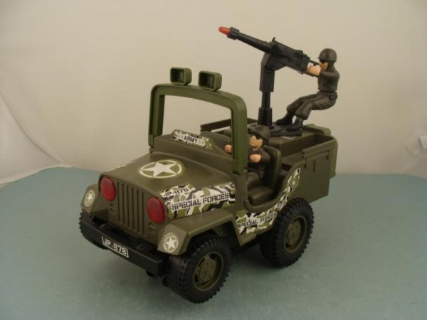 JP-878 Vintage Battery Op Toy Special Forces Army Jeep