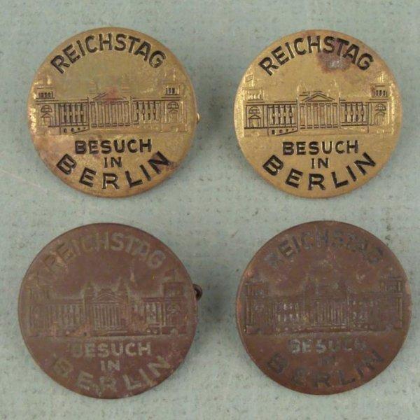 4 Reichstag Besuch In Berlin Pins Award Badges WWII