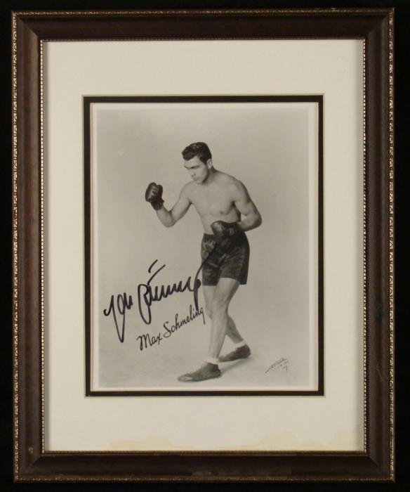 Max Schmeling, Signed Boxing Photo1939 Hitlers Champ
