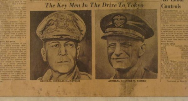 WWII Era Vintage Newspaper Cover Knoxville Journal - 3