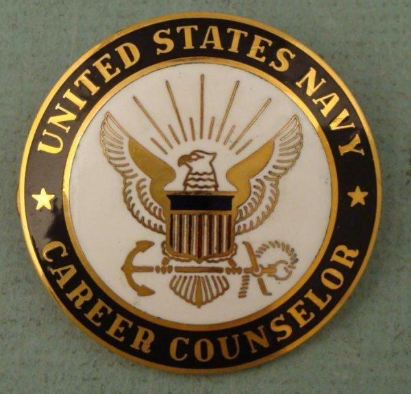 US Navy Career Counselor ID Badge