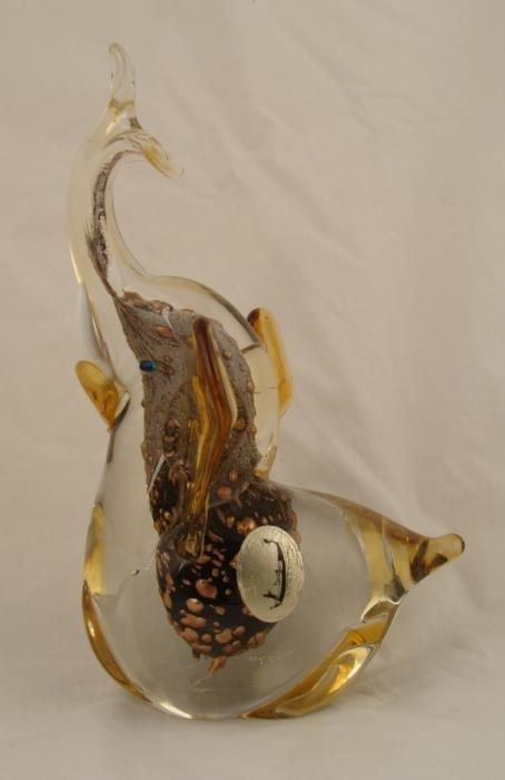 Elephant Bird Fish Vint Art Glass Figurine Italy