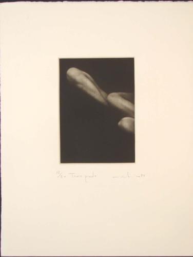 Sensual TROIS PIEDS 3 Feet Mikio Watanabe Art Mezzotint