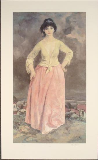 Ben Stahl Giclee Art Print Mariposa Lady Woman Portrait
