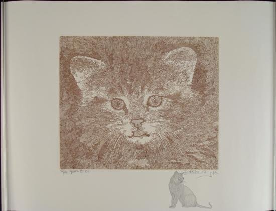 G. Azoulay Signed Etching  Youth  w/ Remarque Cat Art