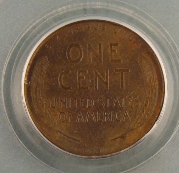 1909 S VDB Wheat Penny 1 Cent MS63 BN PCGS CAC Approved - 3